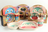 Biodégradable Healthy Bamboo Fiber 5 PCS Kids Tableware Feeding Set