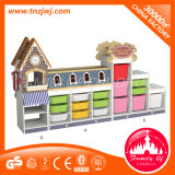 Große vorbildliche Schrank-Kindergarten-Plastikvoorratsbehälter