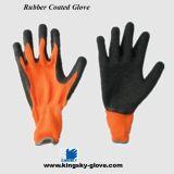 чернота резиновый Coated Glove-5232 вкладыша Knit шнура 10g