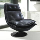 의자 (612)를 가진 작은 현대 빨간 가죽 소파