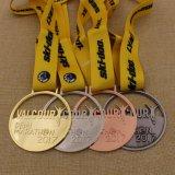 Medaglia lucida 2017 di maratona dell'argento dell'oggetto d'antiquariato del bronzo dell'argento dell'oro del metallo di Cusotm