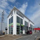 Edifício de aço claro do centro comercial do metal estrutural