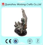 Estátua do lobo dos animais selvagens do artesanato da resina para vendas