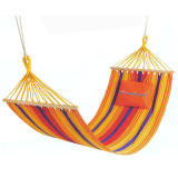 Hamac avec oreiller en coton multicolore