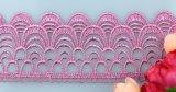 Heiße Breiten-Kamel-Farben-Stickerei-Spitze der Verkaufs-Fabrik-Aktien-Großverkauf-Fisch-Schuppen-5.5cm für Hauptgewebe u. Bekleidungszubehör u. Vorhänge