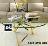 方法ステンレス鋼のガラスコーヒーテーブルDt012