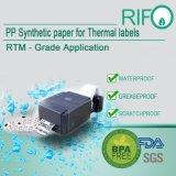 BPA geben weißes BOPP riesiges Rollenmaterial der Theraml Übergangskennsatz-frei