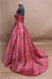 Платья вечера свадебного банкета платья мантий поезда сатинировки печатание конструкции способа Bridal