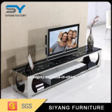 Живущий стойка TV стекла таблицы шкафа LCD TV мебели комнаты