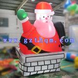 Santa Claus géant gonflable pour Noël/Santa Claus extérieur éclairé des décorations de Noël