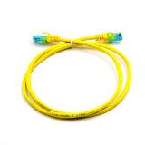 PVC de cobre del amarillo del paso de la cuerda de corrección Cat5e UTP 7*0.2m m Fluck