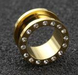 جسر [بيرسنغ] مجوهرات فولاذ نوع ذهب لحظ نفق سدادة