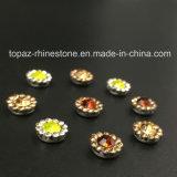 2017 nähen neuer und heißer guter Menge-China-Hersteller auf Greifer des Rhinestone-7mm durch Setting Crystals (runder Kristall des TP-7mm Topaz)