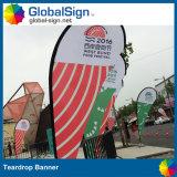 Publicité extérieure Panneaux doux à double face Giant Wind Drapeaux Teardrop Banner Bow Banner Drapeaux