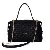 金カラー鎖の女性のハンド・バッグが付いているQulitedのハンドバッグ