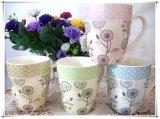 Nuovo disegno con i bei fiori per la tazza di ceramica di Milk&Coffee