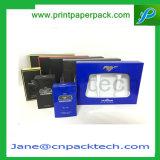 Изготовленный на заказ дух плоского пакета косметический упаковывая коробку картона PVC бумажную