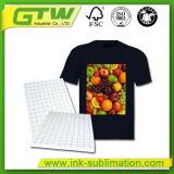 Capa de recubrimiento de PU de alta calidad, corte fácil Papel de transferencia de la camiseta oscura para la tela 100% de algodón