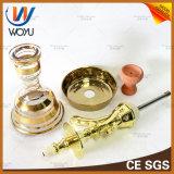 Conjunto verdadero de cristal de la cachimba de Nargile del florero del oro del tubo de agua