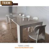 現代拡張可能な緩和されたガラスのダイニングテーブルは机の足を立てる