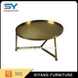 Tabella di estremità dorata del metallo cinese di Foctory con il prezzo competitivo