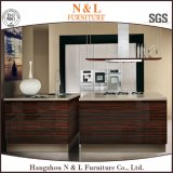 Moderne Küche-Entwurfs-Ausgangsmöbel-hölzerne Furnier-Blattküche-Möbel (KC-1410)