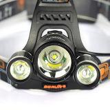 Boruit 5000lm 야영 난조 18650 재충전용 3 T6 LED Headlamp