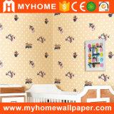 Chambre à coucher en PVC étanche de papier peint pour les enfants