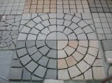 Pedra de pavimentação engrenada natural da forma do ventilador do granito/basalto/ardósia/Bluestone para o jardim/entrada de automóveis