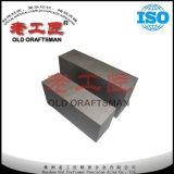 Las placas de carburo de tungsteno de las placas de metal duro de goma para cortar
