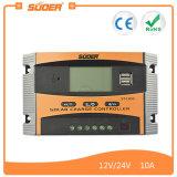 Contrôleur solaire de charge de Suoer 12V 24V 10A avec les doubles ports USB (ST-C1210)