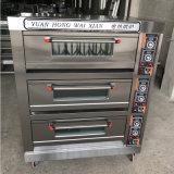 Forno por atacado da pizza da plataforma do equipamento da padaria do gás da máquina para o cozimento 3decks 6trays