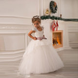 Puffy Girls Wedding Gonws Lace Tulle Flower Girl Dress F1511
