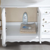 Floor-Mounted moderner Art-festes Holz-Badezimmer-Schrank