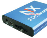 Mini-portable portable portable 2 canaux, MPEG-4 Audio Video Mdvr