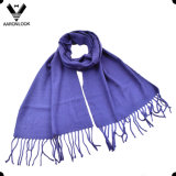 Lady Pure Color Woven Cheap Scarf simples para atacado