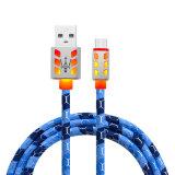 заряжателя данным по 2A 1m кабель USB заряжателя кожаный микро- для Android V8 Samsung