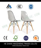 Hzpc130 까만 플라스틱 의자에 의하여 고쳐진 발 - 방석을 포함한다