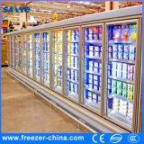 大きい容量の分割タイプ振動ガラスFoorの表示冷却装置