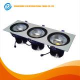 Embutir la MAZORCA ajustable LED Downlight de Dimmable 3*20W de la viruta del CREE del techo