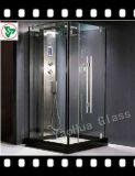 Vidro temperado de porta de banheiro de 3 a 19 mm