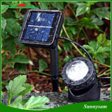 6 LED Solar Pond enciende impermeable Foco Solar Powered luces del paisaje del acuario ligero subacuático