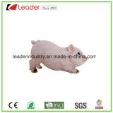 Polyresin cerdo bastante realista de la Figurilla permanente para la decoración del hogar y jardín ornamentos