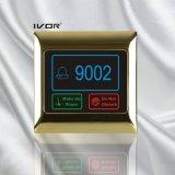 금속 개략 프레임 (SK dB2000SYS R)에 있는 객실 번호를 가진 호텔 현관의 벨 시스템 접촉 위원회