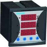 Три этапа вольтметр с тревогой размер 72*72 AC500V