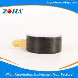60mm Black Steel Case Conector de bronze Medidor de pressão geral
