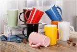 Tazza di tè di ceramica poco costosa dipinta a mano all'ingrosso per la promozione