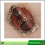 Rotes Emblem-Kennsatz des Metallaluminium gedruckter Wein-3D mit gutem Aufkleber