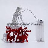 La chaîne de caractères féerique de cerfs communs de thème de Noël allume la batterie imperméable à l'eau du modèle aa