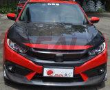 Capô capô de fibra de carbono para Honda Civic 10 2016